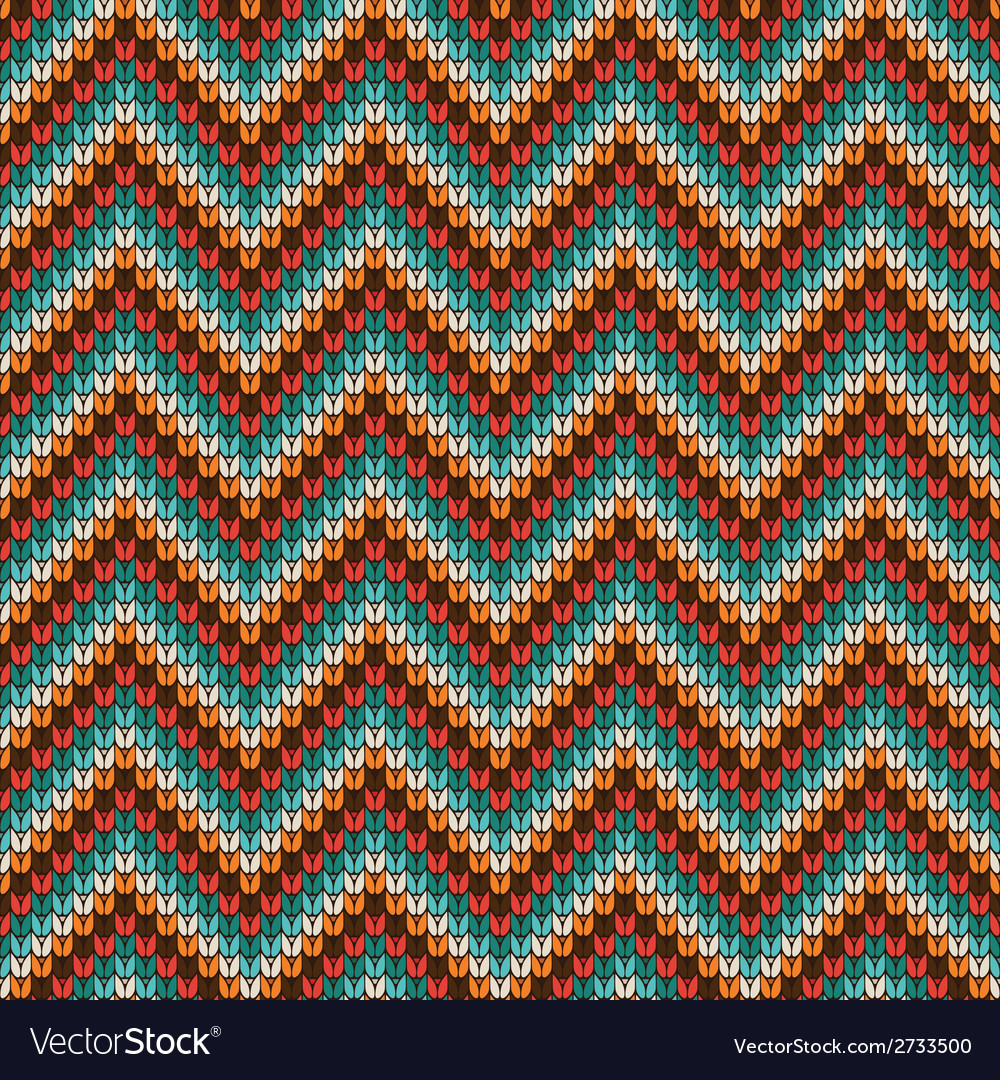Seamless zigzag knitting pattern vector | Price: 1 Credit (USD $1)