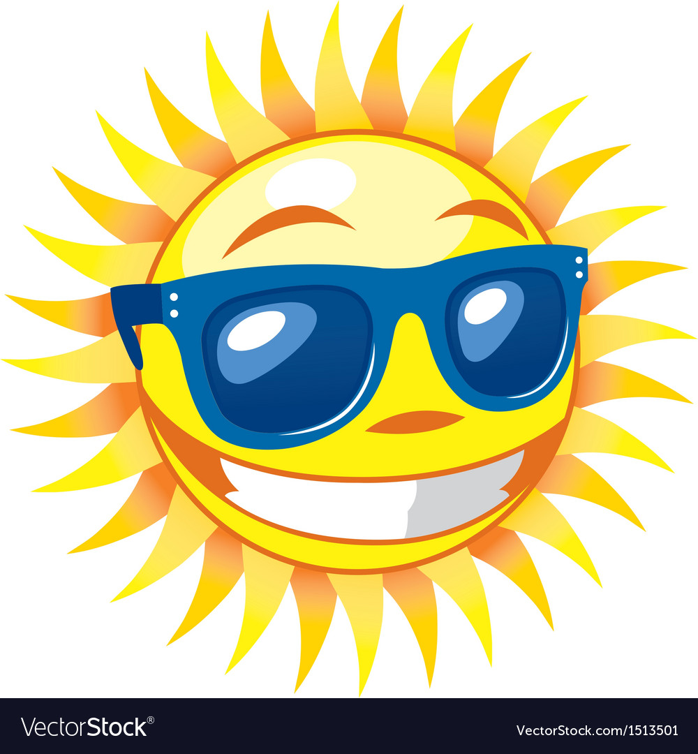 3d smiling sun vector | Price: 1 Credit (USD $1)