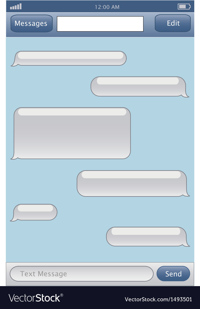 Chat template vector | Price: 1 Credit (USD $1)