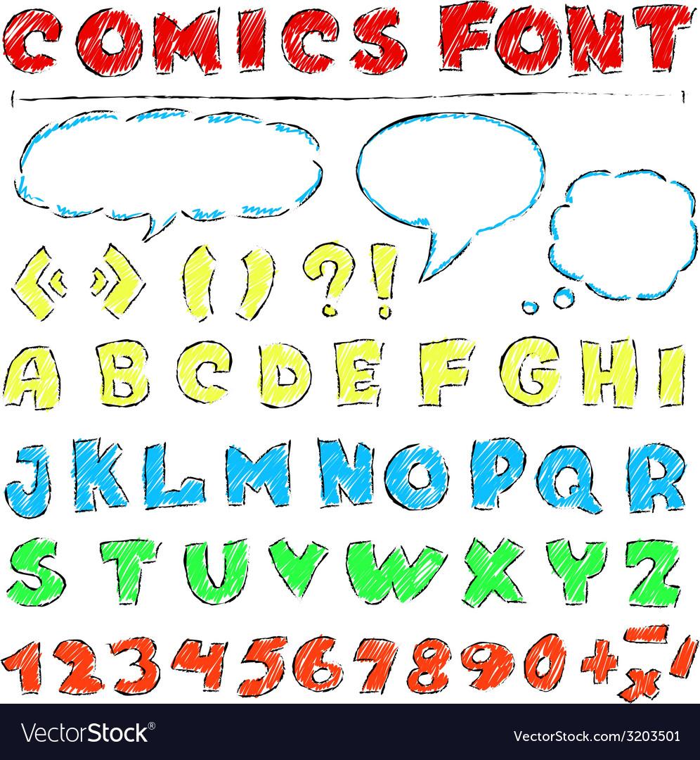 Comics set vector | Price: 1 Credit (USD $1)