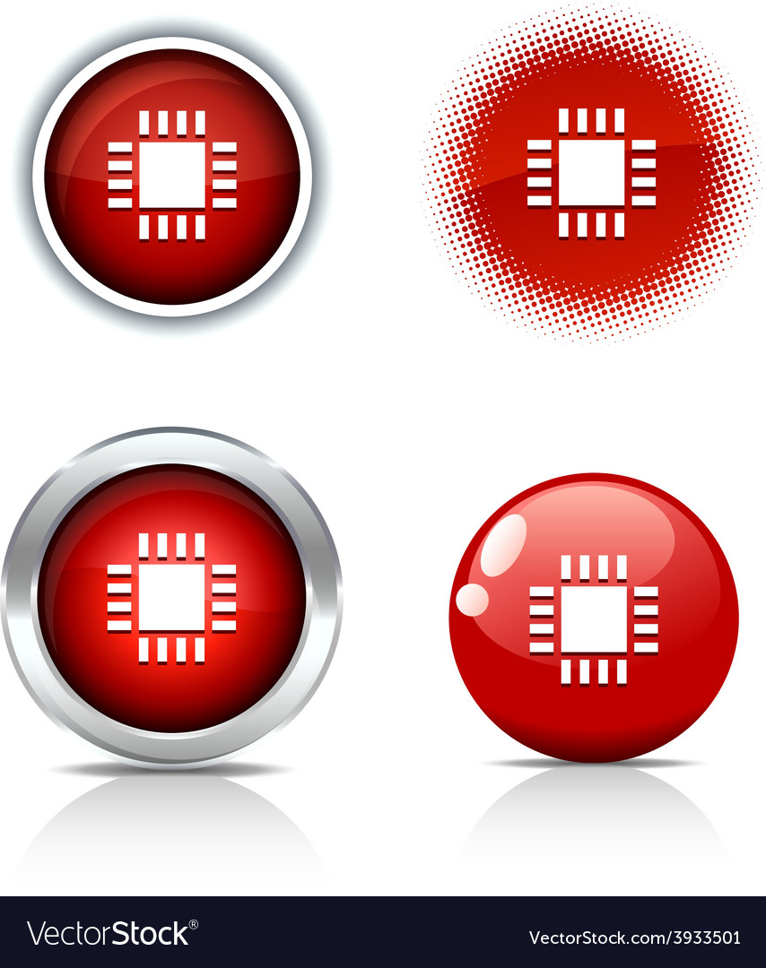 Cpu buttons vector | Price: 1 Credit (USD $1)