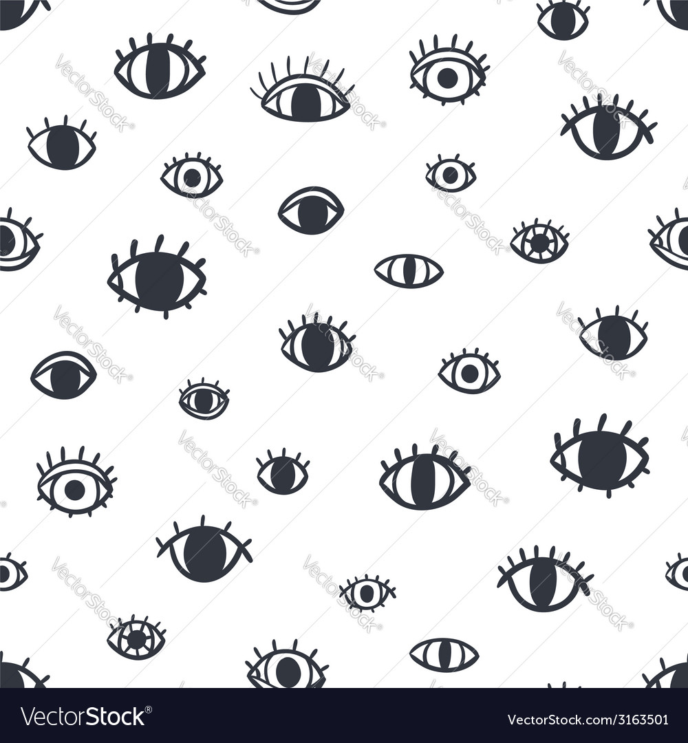 Eyes seamless pattern vector | Price: 1 Credit (USD $1)