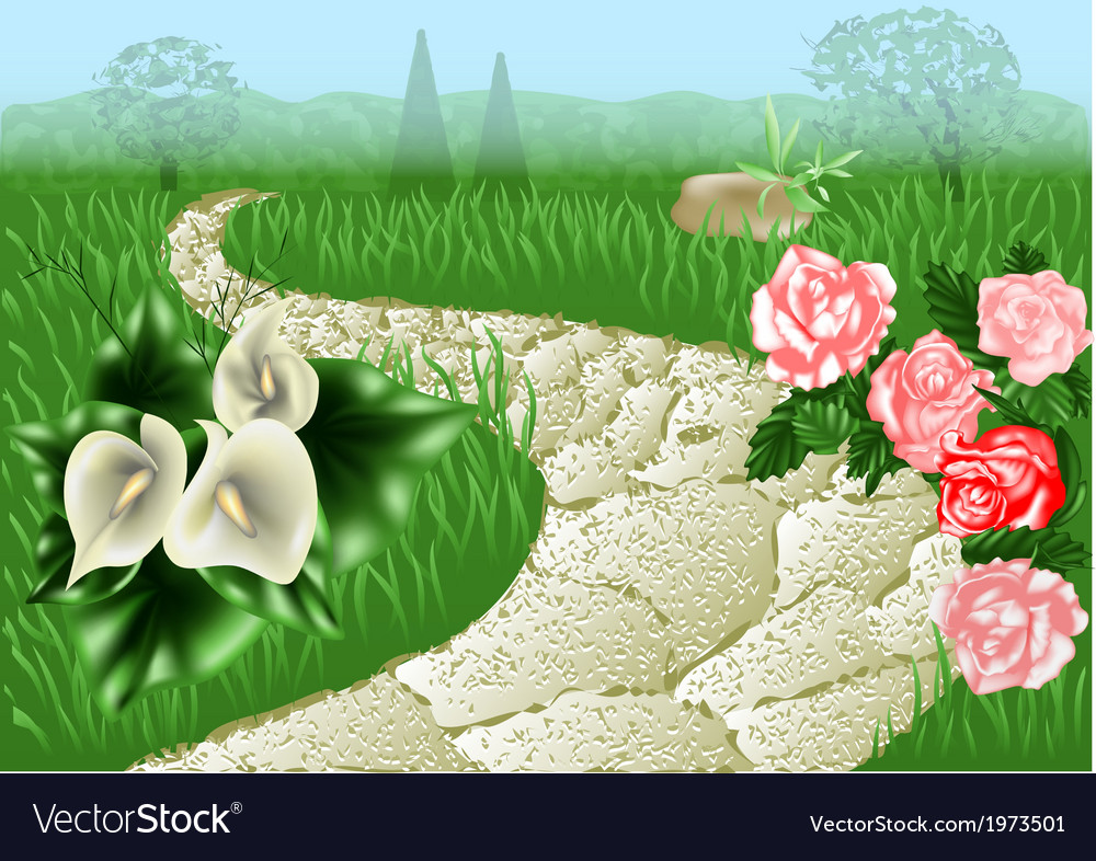 Garden path vector | Price: 1 Credit (USD $1)