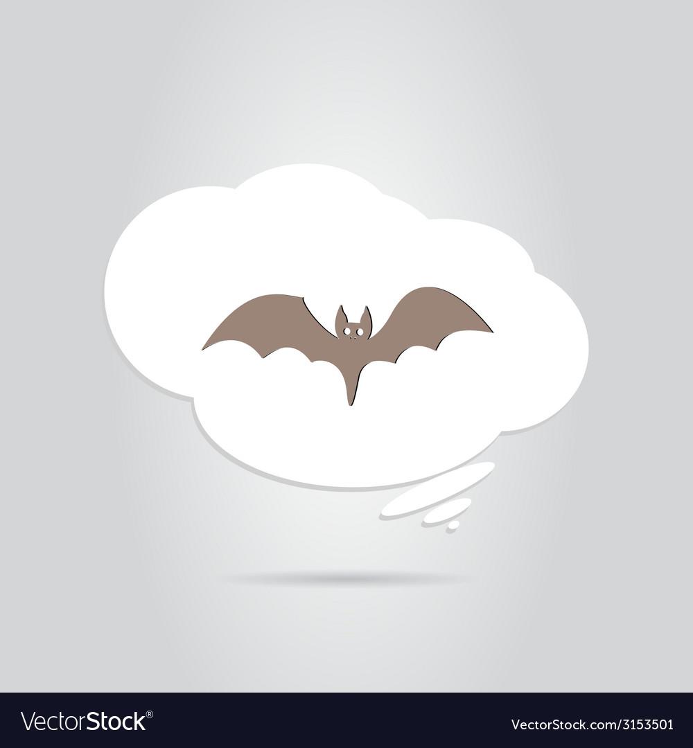 Icon bat happy halloween holiday vector | Price: 1 Credit (USD $1)