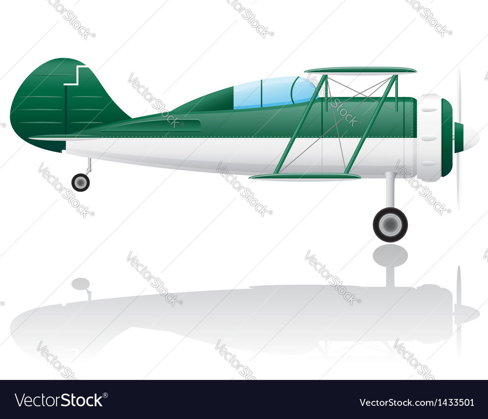 Old retro airplane vector | Price: 1 Credit (USD $1)