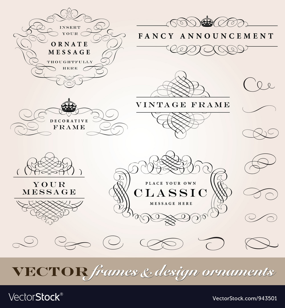 Ornament frames set vector | Price: 1 Credit (USD $1)