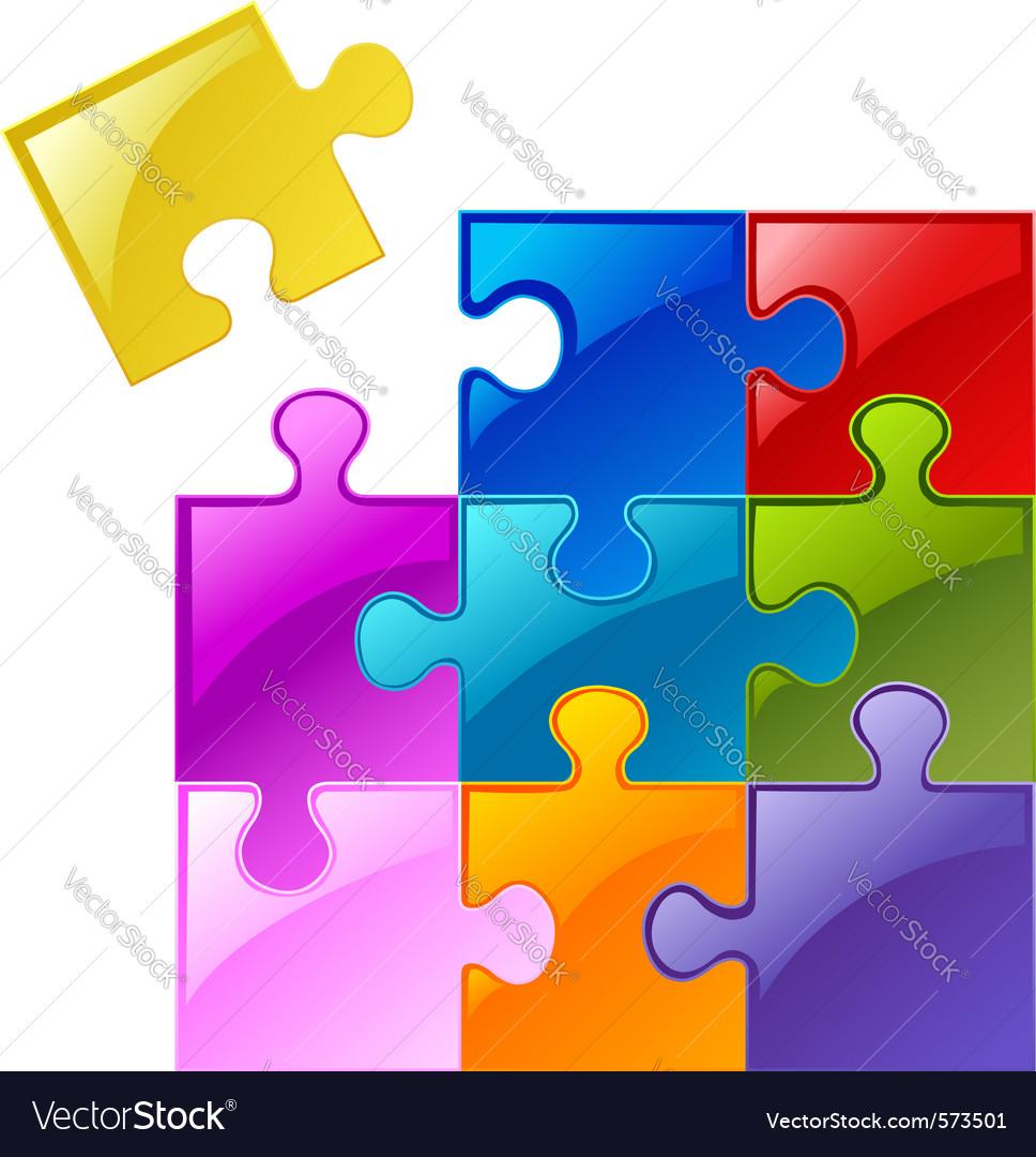 Puzzle pieces vector | Price: 1 Credit (USD $1)