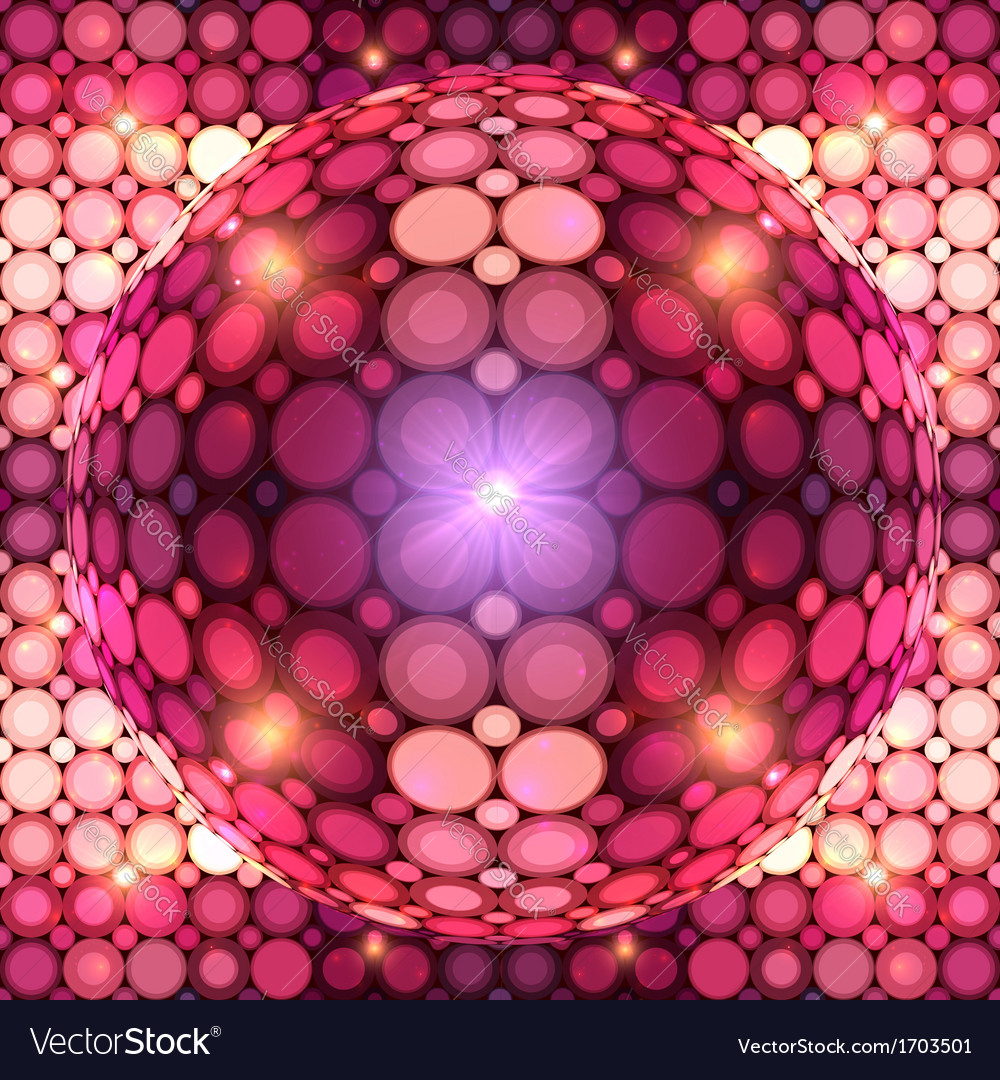 Red shining disco ball vector | Price: 1 Credit (USD $1)