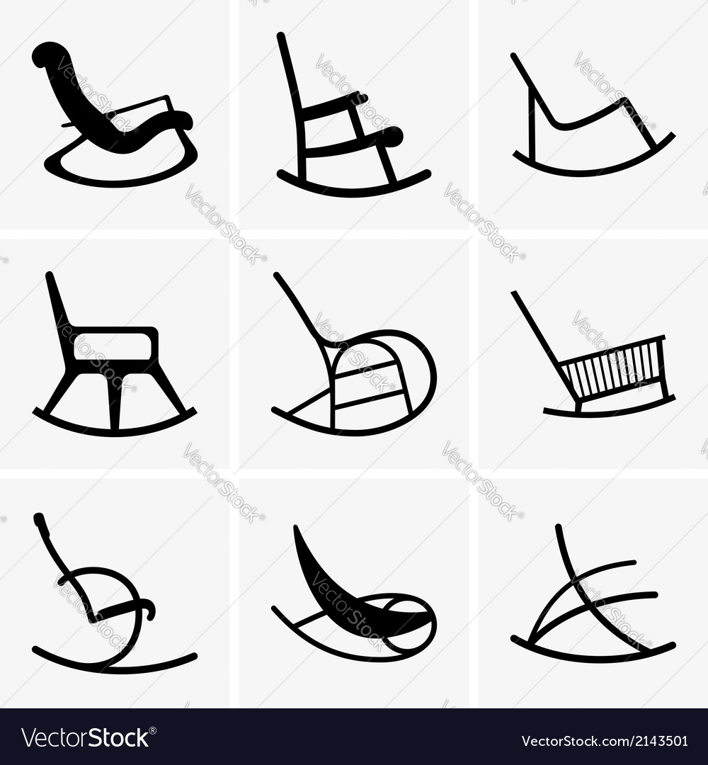 Rocking chairs vector | Price: 1 Credit (USD $1)