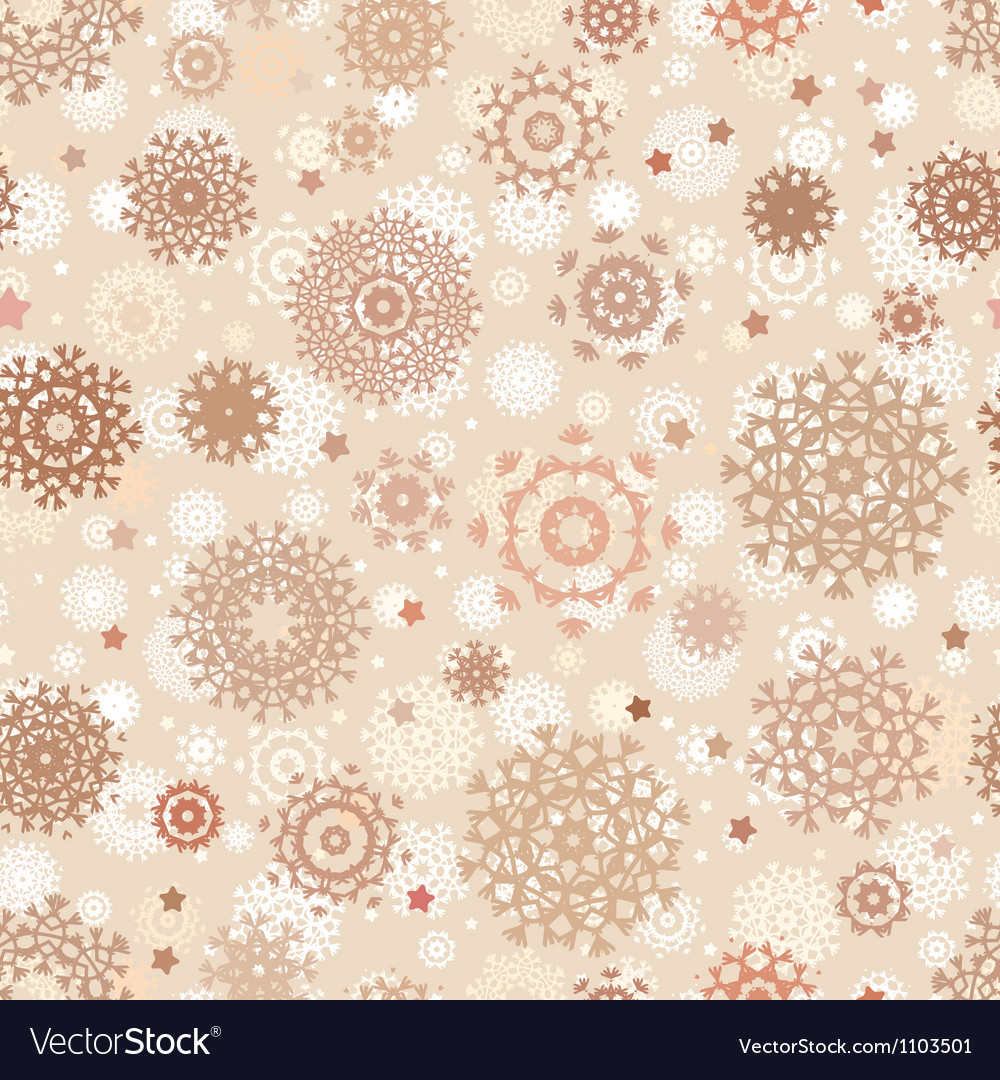 Seamless snowflakes background for winter eps 8 vector | Price: 1 Credit (USD $1)