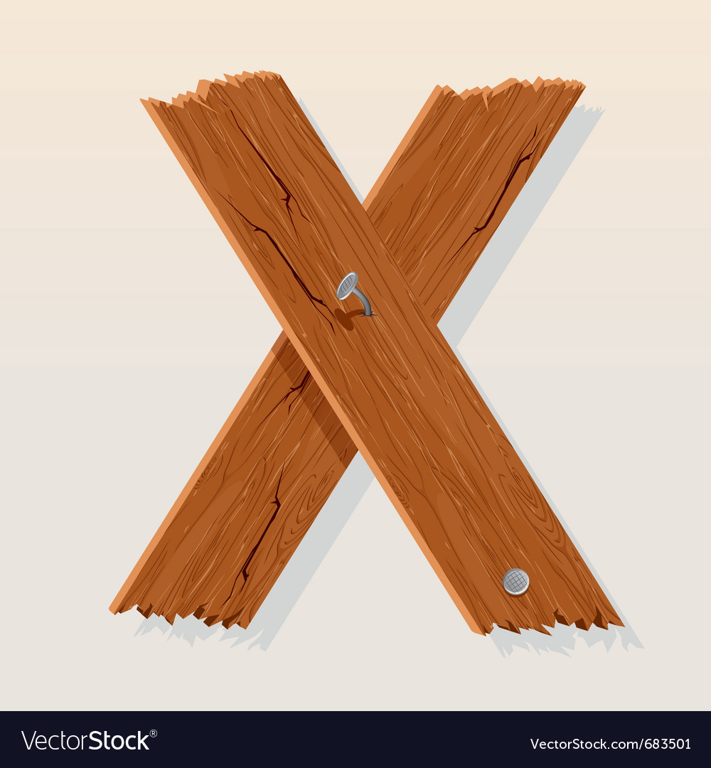 Wooden letter x vector   Price: 1 Credit (USD $1)