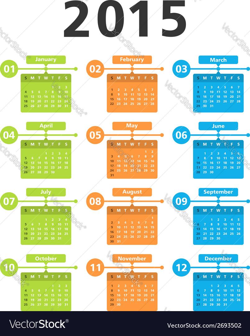 2015 calendar vector   Price: 1 Credit (USD $1)