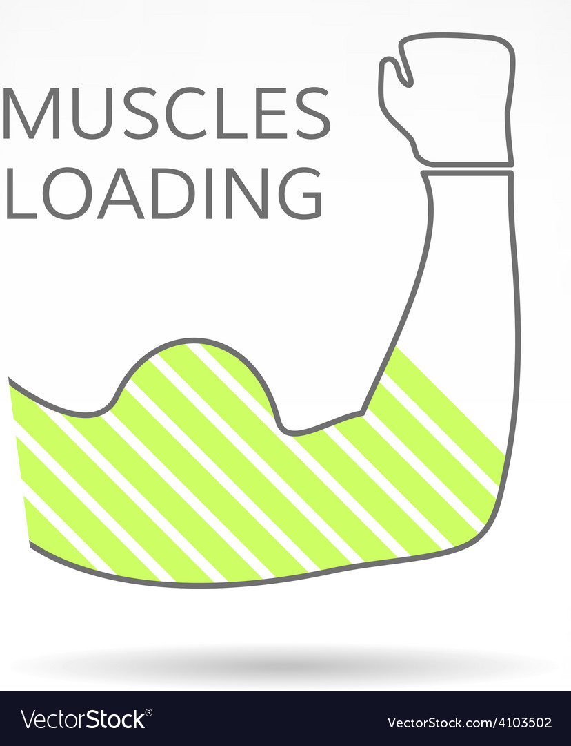 Arm with strong biceps loading muscles idea vector   Price: 1 Credit (USD $1)