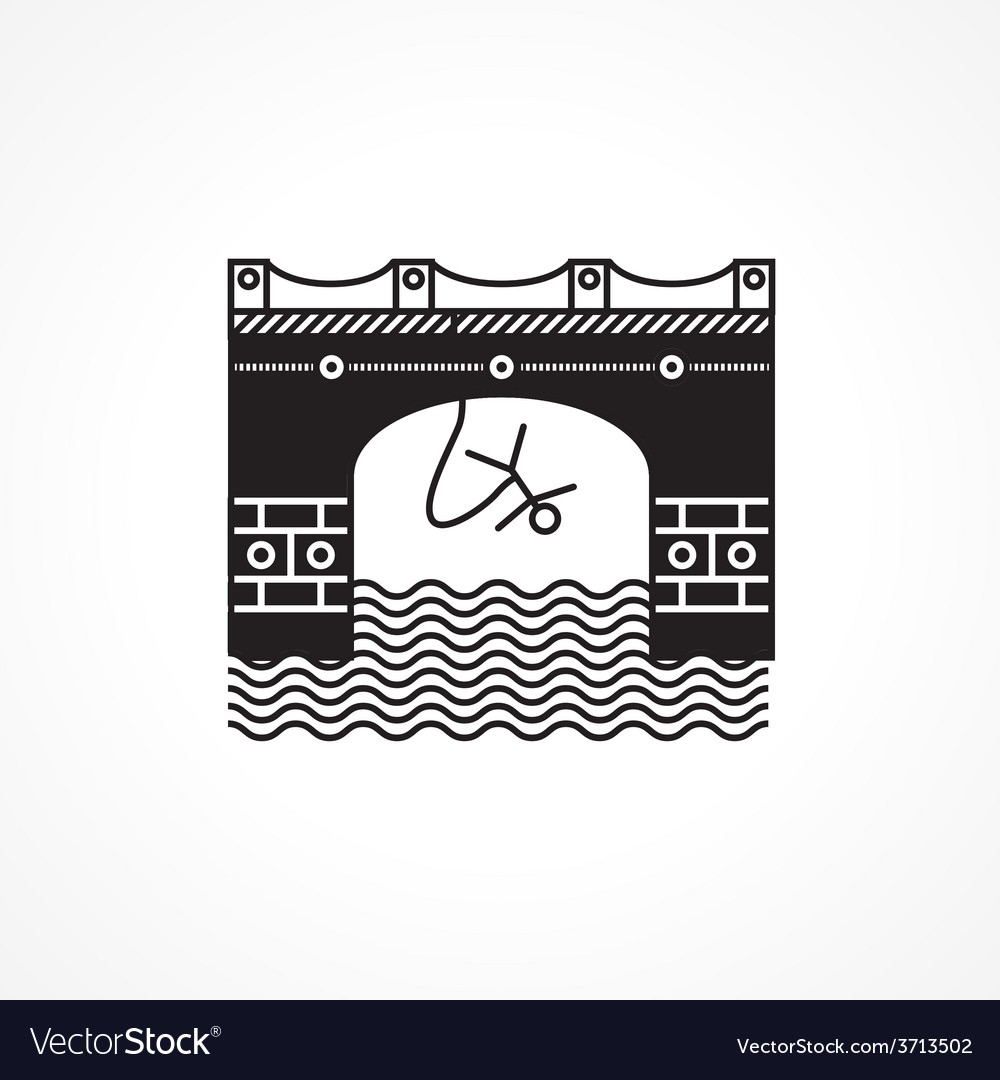 Black flat icon for rope jumping vector | Price: 1 Credit (USD $1)