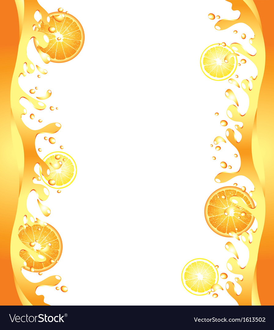 Citrus splash frame vector | Price: 1 Credit (USD $1)