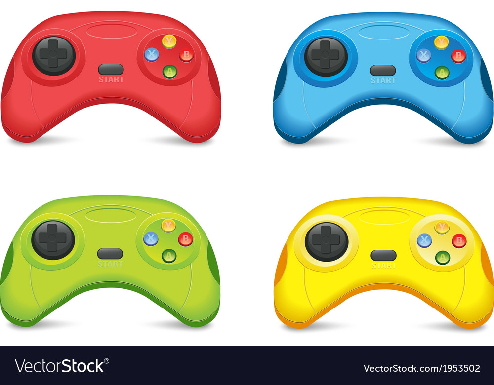 Color gamepad set vector | Price: 1 Credit (USD $1)