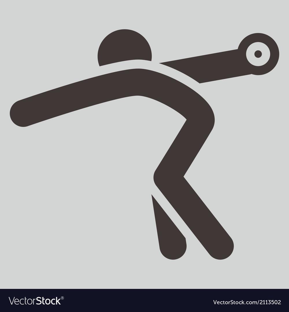 Discus throw icon vector   Price: 1 Credit (USD $1)