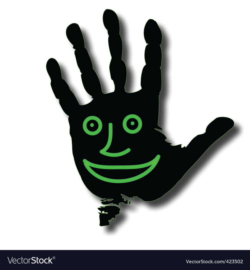 Hand face vector | Price: 1 Credit (USD $1)