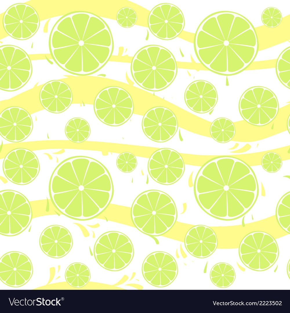 Lime slices seamless pattern splash vector | Price: 1 Credit (USD $1)