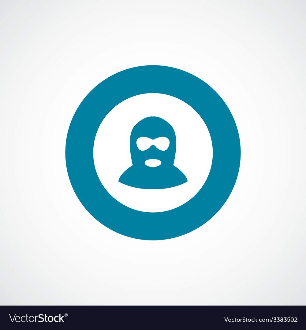 Offender bold blue border circle icon vector | Price: 1 Credit (USD $1)