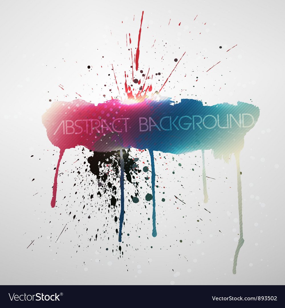 Paint splat grungy background vector | Price: 1 Credit (USD $1)