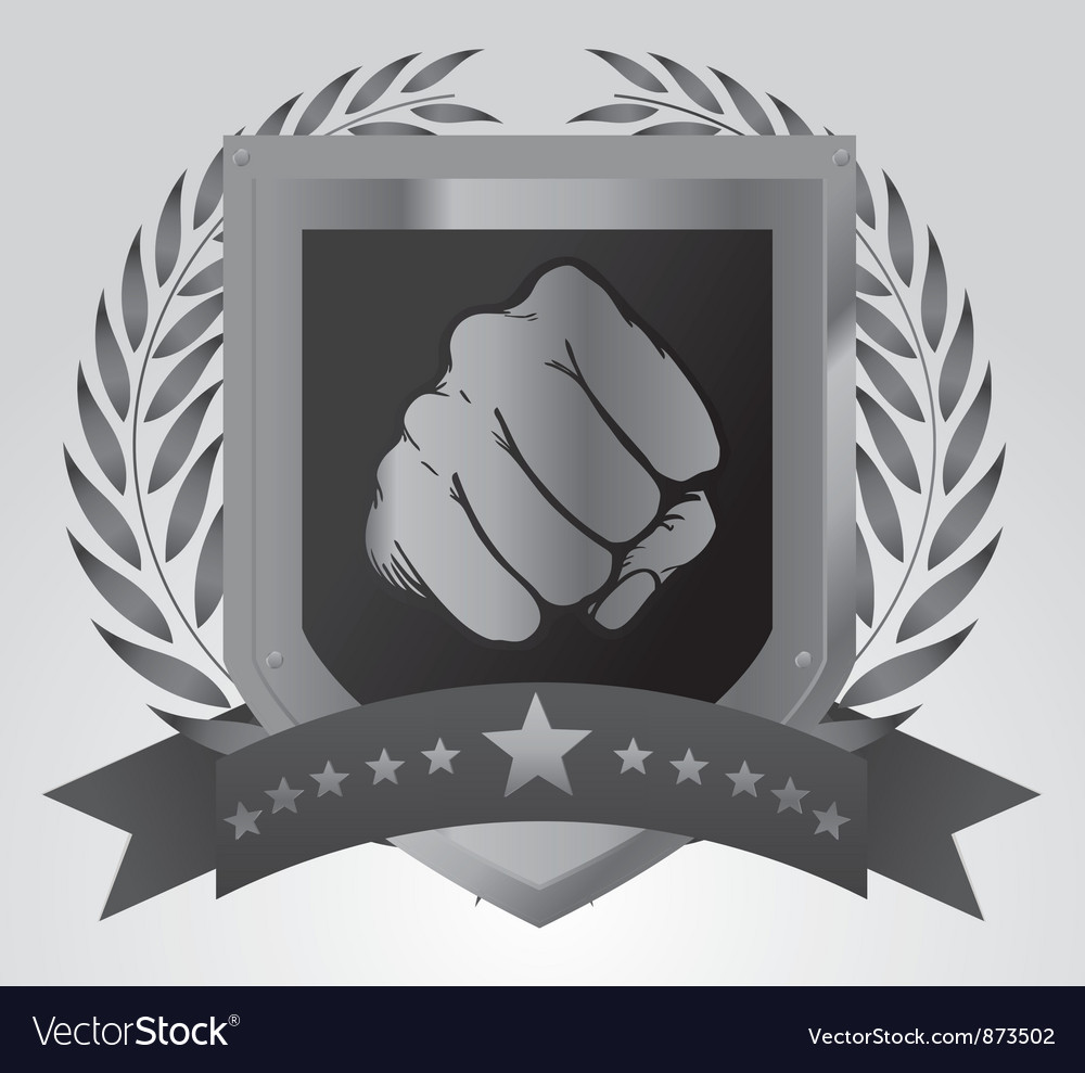 Shield with fist vector | Price: 1 Credit (USD $1)