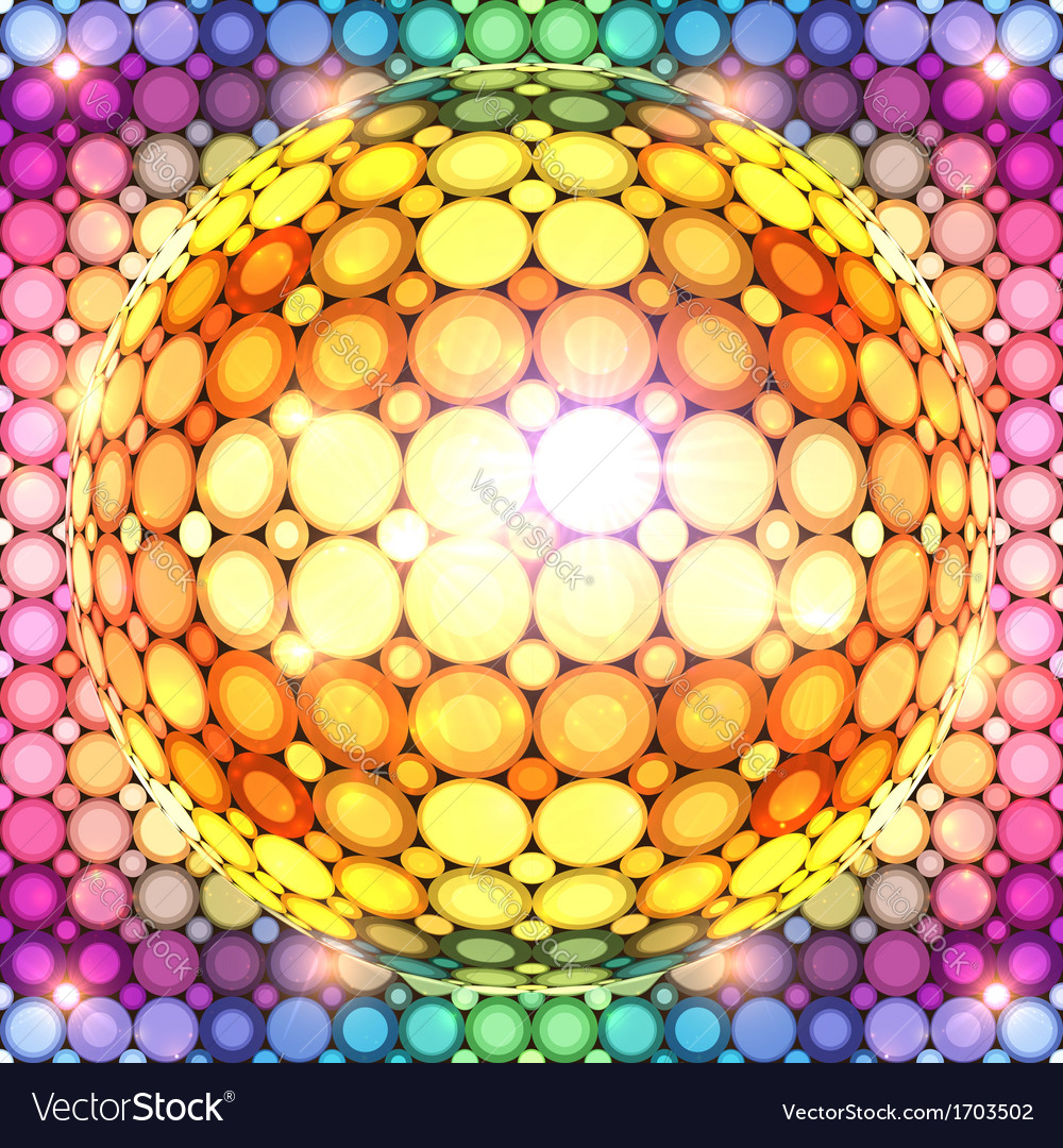 Shining colorful disco ball vector | Price: 1 Credit (USD $1)