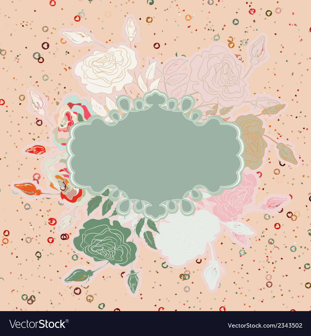 Wedding card with abstract floral eps 8 vector | Price: 1 Credit (USD $1)