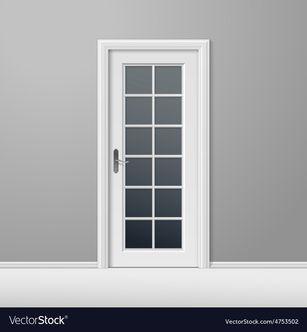 White closed door with frame vector | Price: 3 Credit (USD $3)