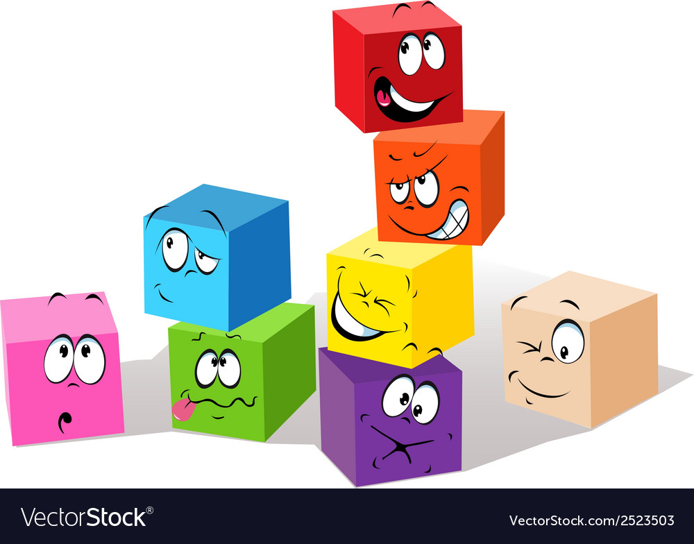 Colorful childish cubes vector | Price: 1 Credit (USD $1)