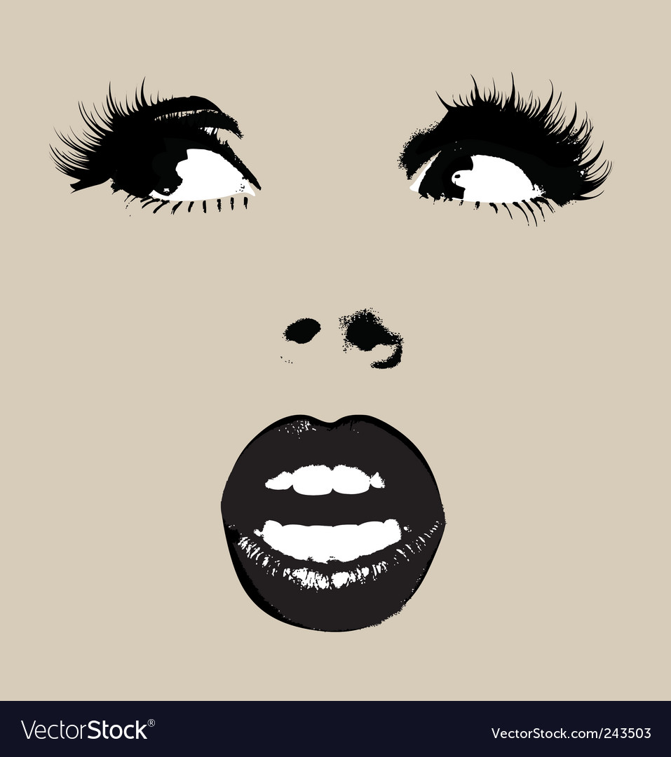 Face of women vector | Price: 1 Credit (USD $1)