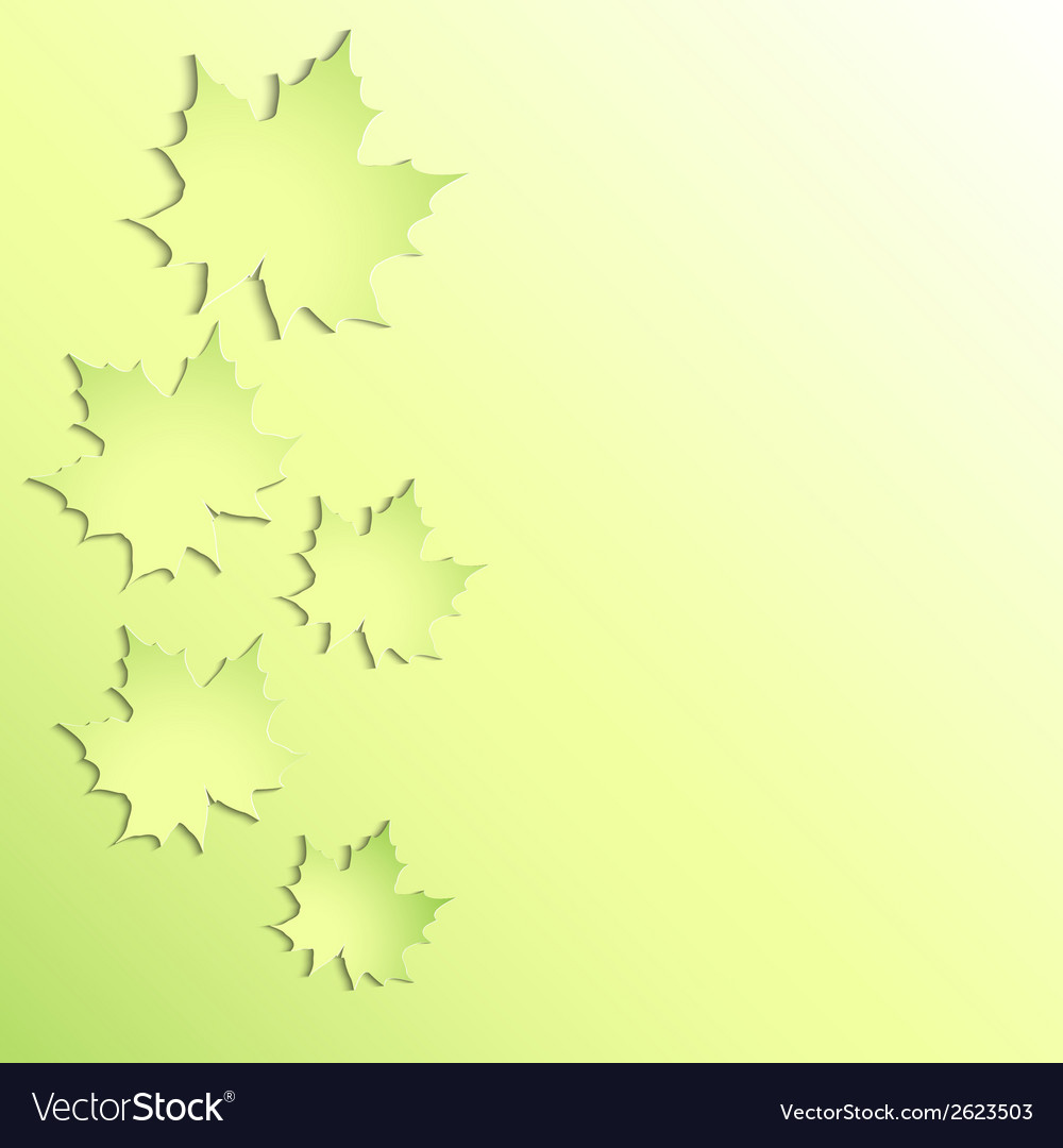 Green maple leaves on green background vector | Price: 1 Credit (USD $1)