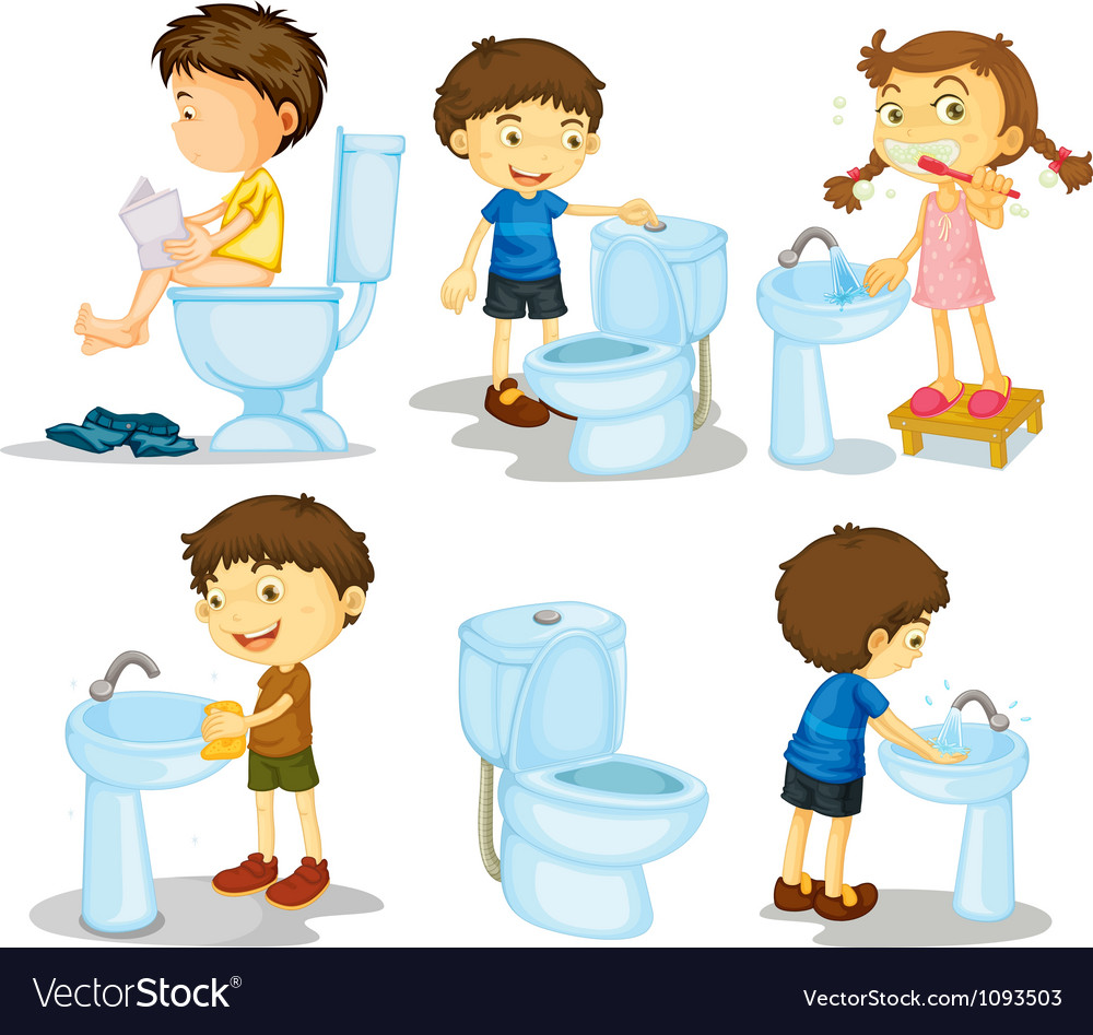 Kids and bathroom accessories vector | Price: 3 Credit (USD $3)
