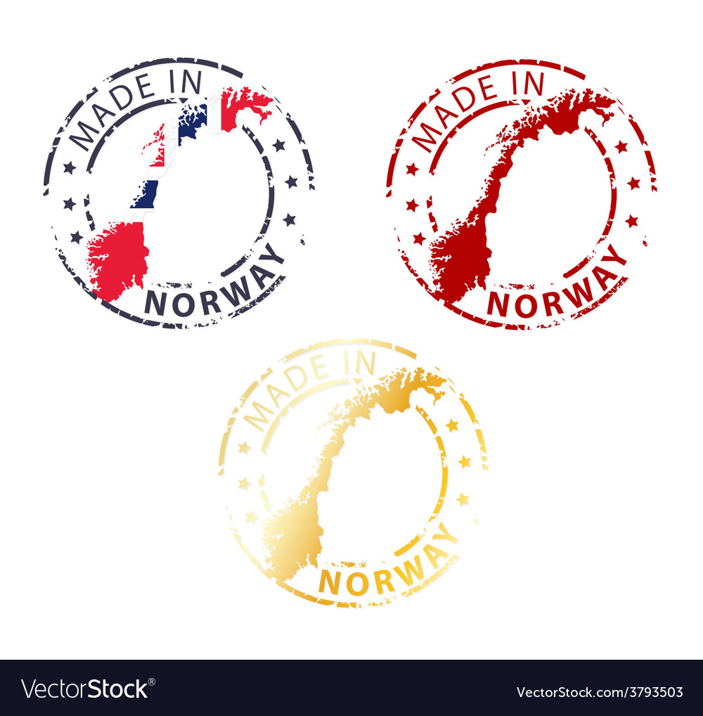 Made in norway stamp vector | Price: 1 Credit (USD $1)