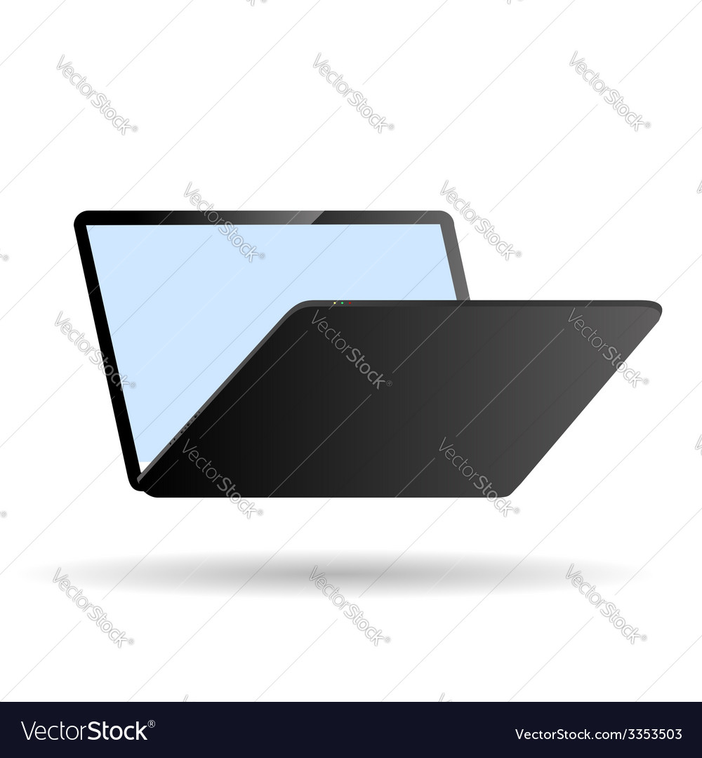 Modern laptop vector | Price: 1 Credit (USD $1)
