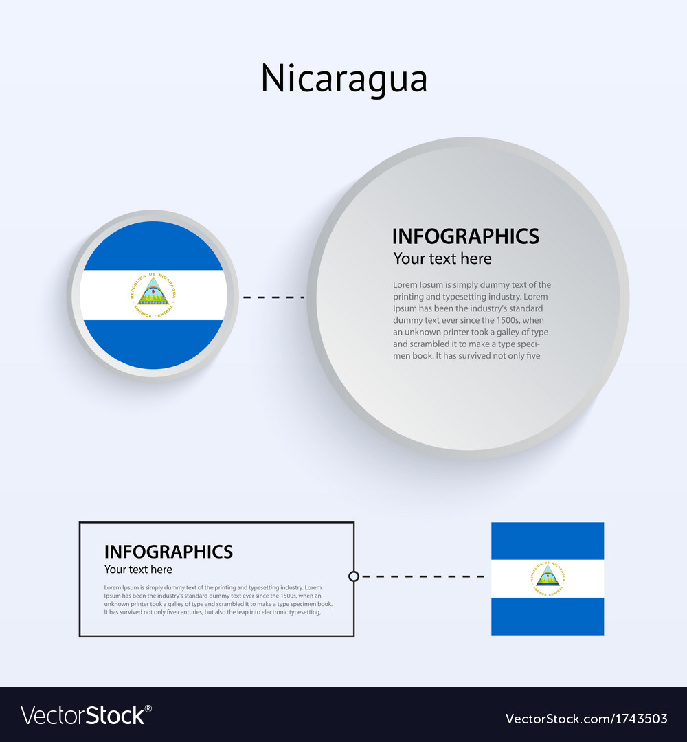 Nicaragua country set of banners vector   Price: 1 Credit (USD $1)