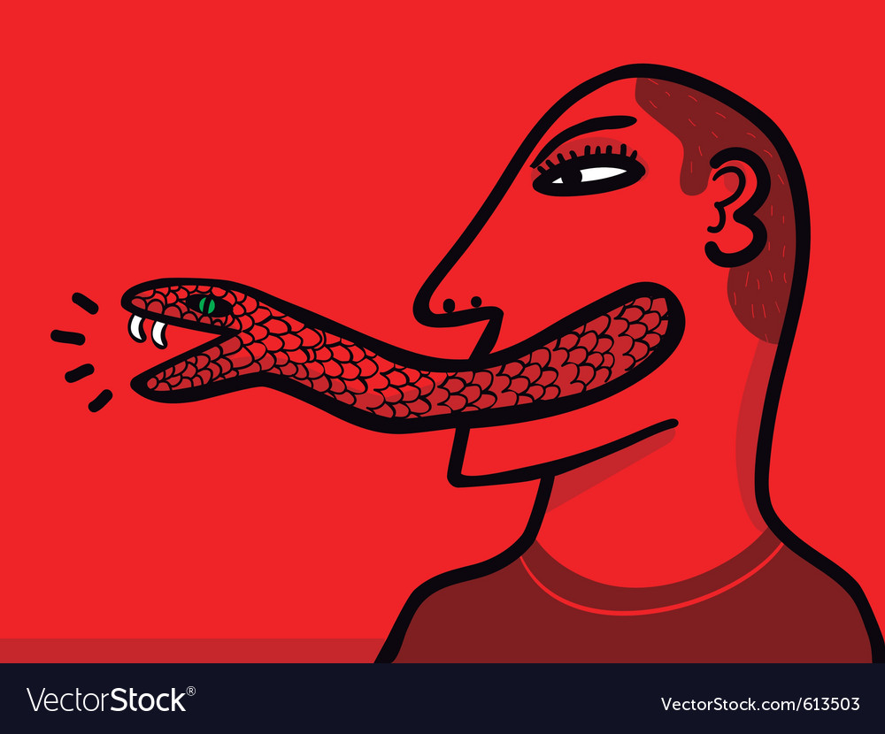 Snake tongue vector | Price: 3 Credit (USD $3)
