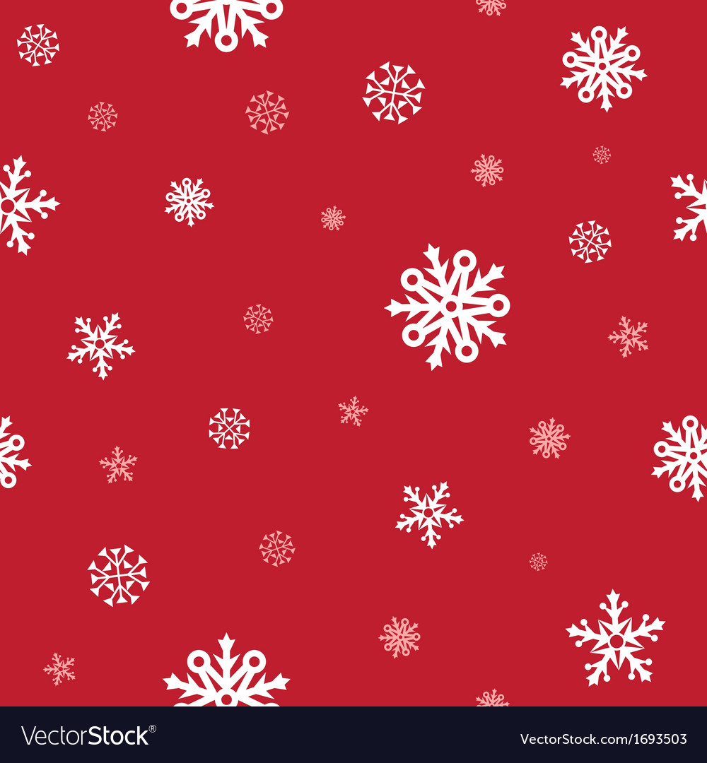 Snow red pattern vector | Price: 1 Credit (USD $1)