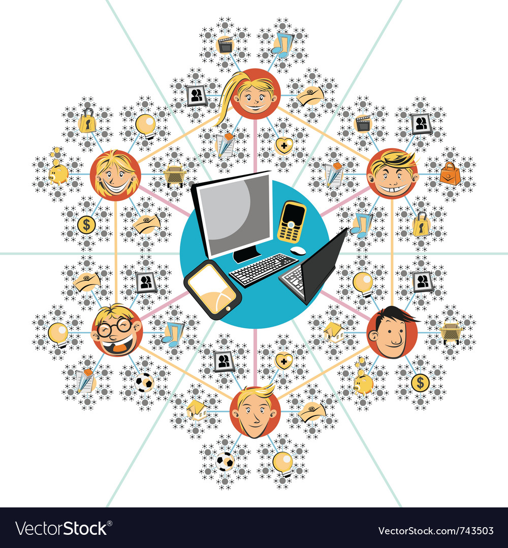 Social networks vector | Price: 1 Credit (USD $1)