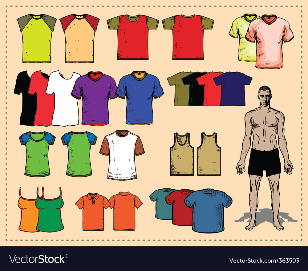 Sport tees color vector | Price: 1 Credit (USD $1)