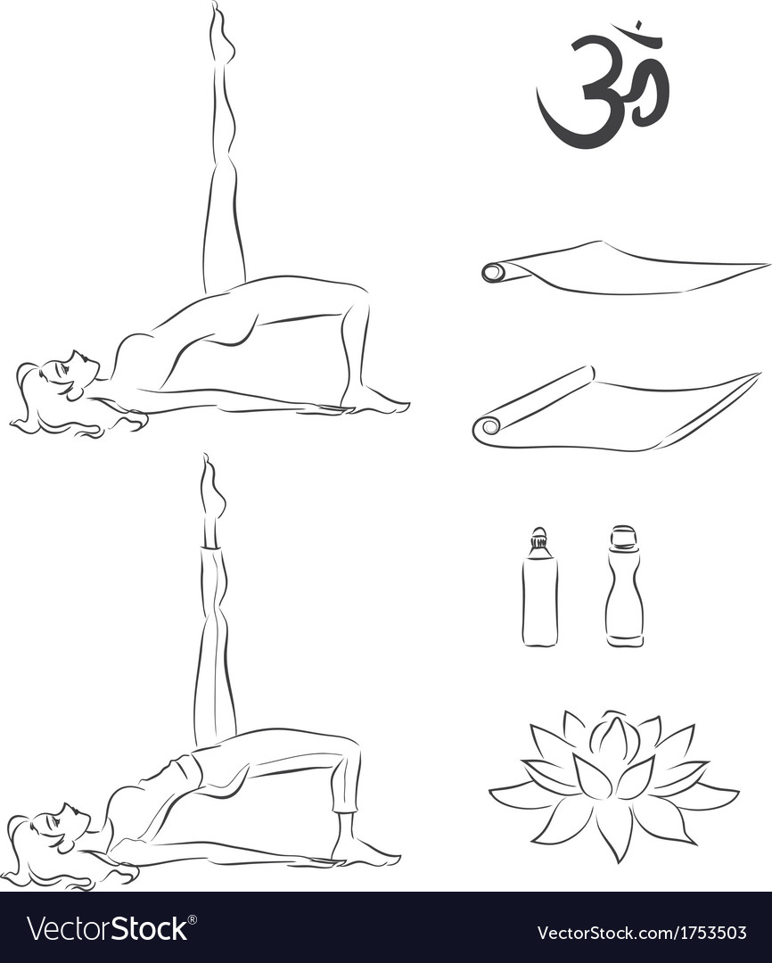 Yoga exercise vector | Price: 1 Credit (USD $1)