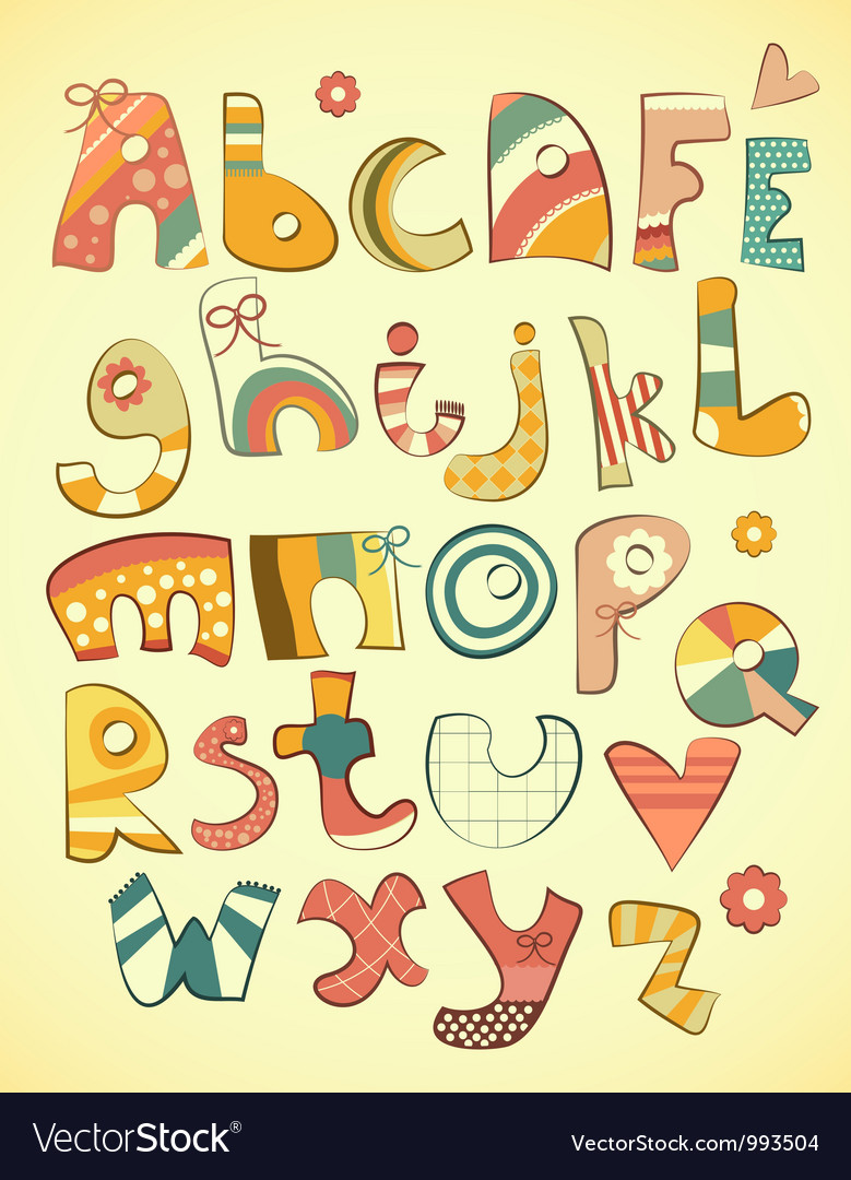 Alphabet design vector | Price: 1 Credit (USD $1)