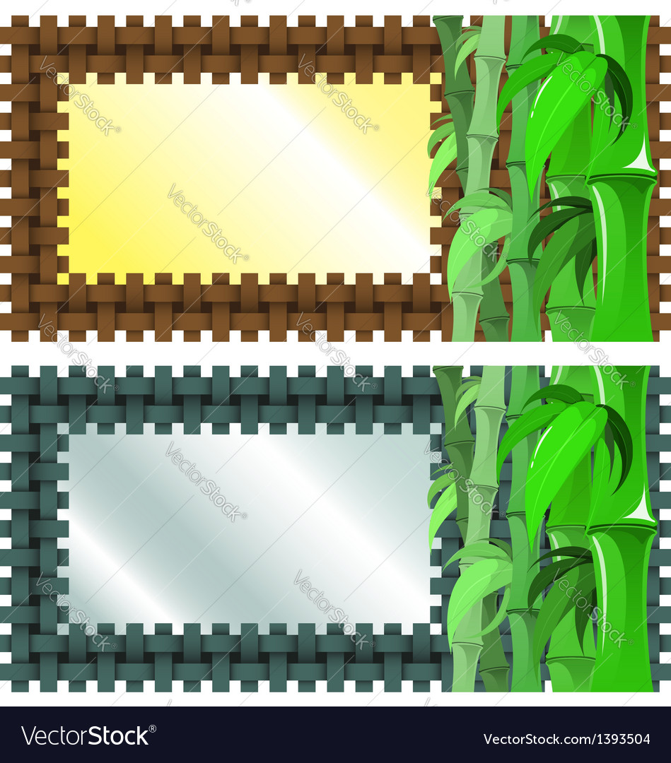 Bamboo banner vector | Price: 1 Credit (USD $1)