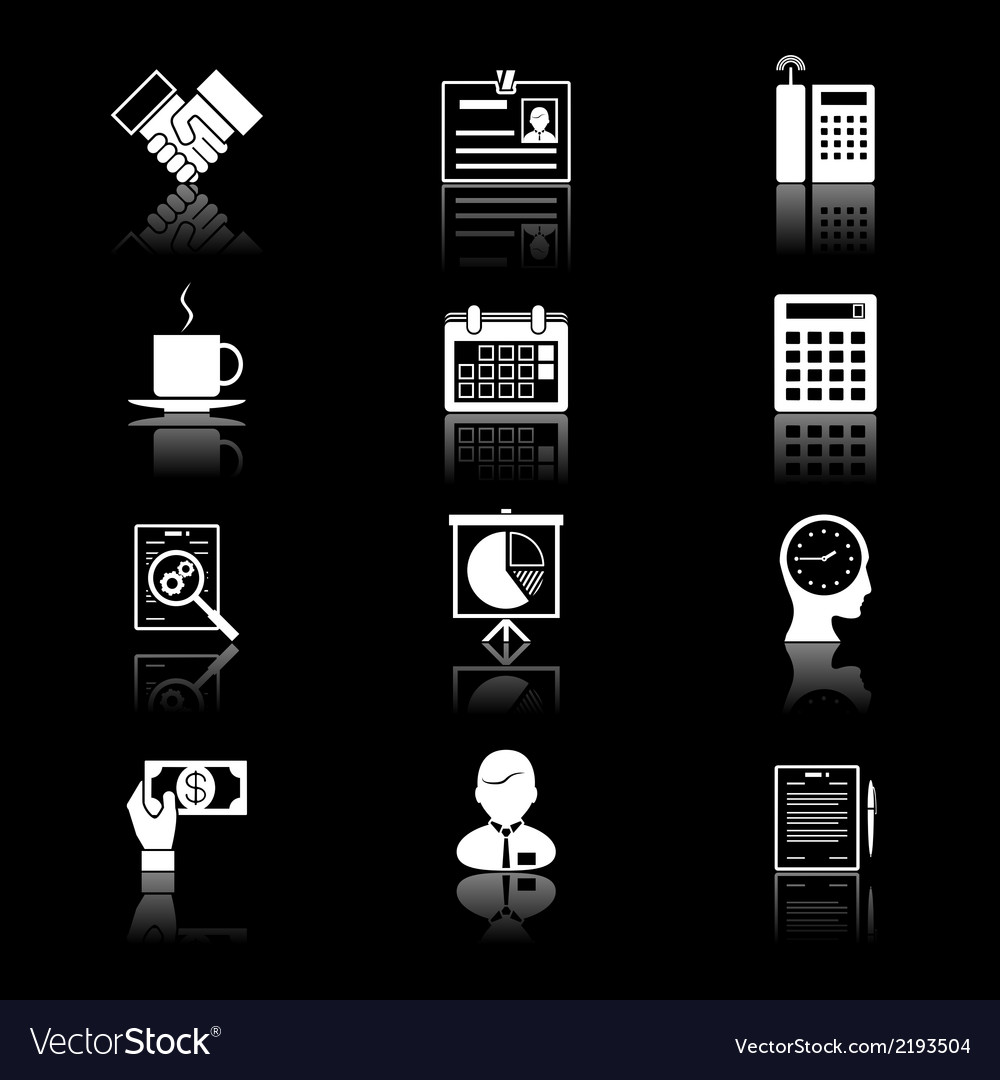 Business and time icons vector | Price: 1 Credit (USD $1)