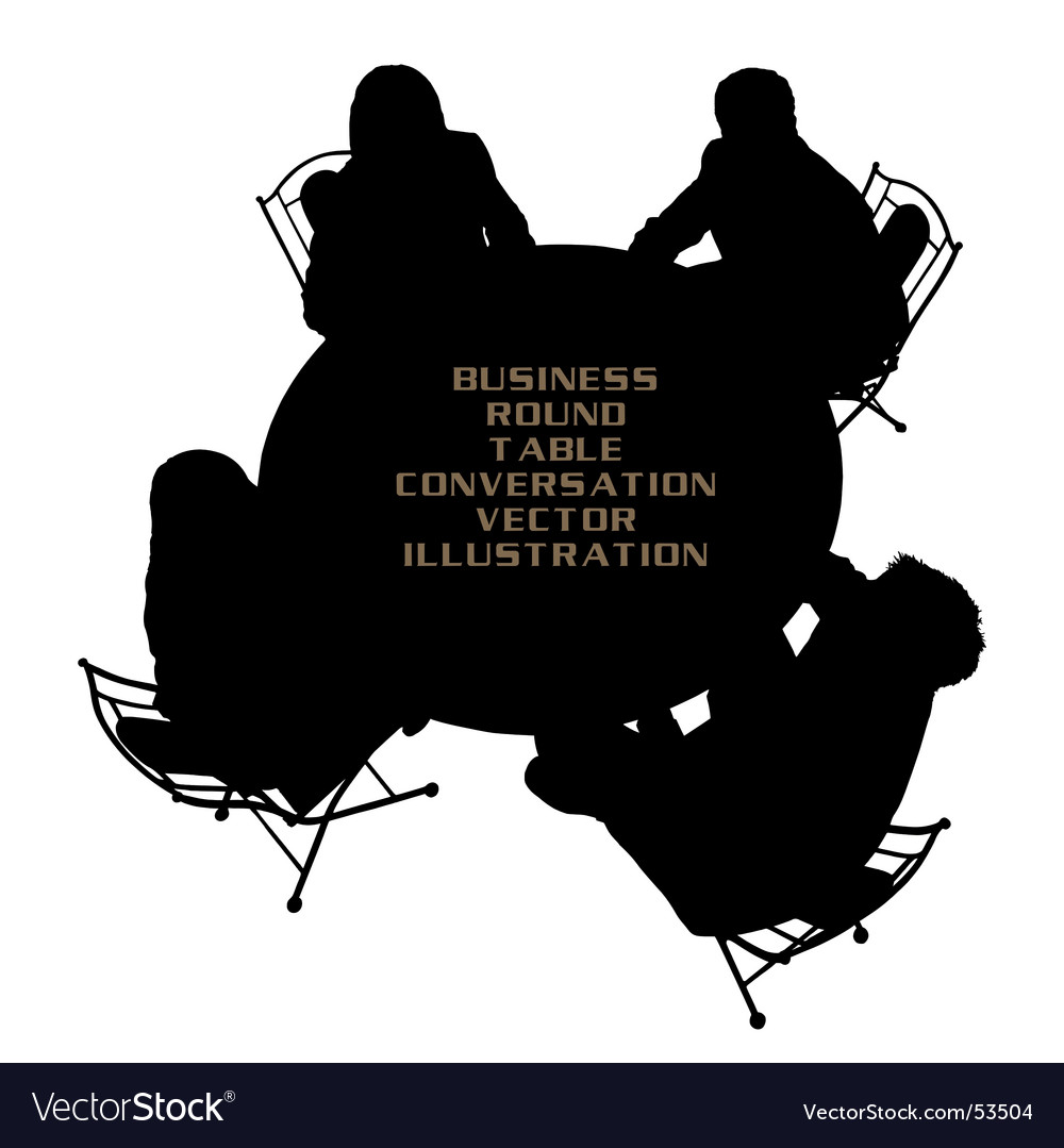 Business round table vector | Price: 1 Credit (USD $1)
