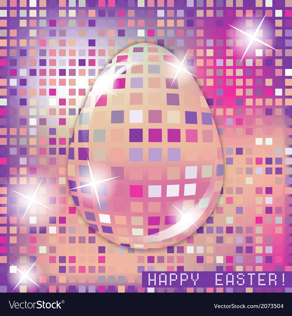 Easter egg crystall pink glass spring concept vector | Price: 1 Credit (USD $1)