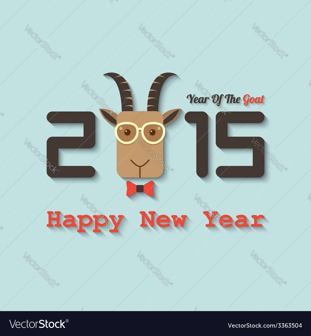 Happy new year 2015 year of the goat vector | Price: 1 Credit (USD $1)