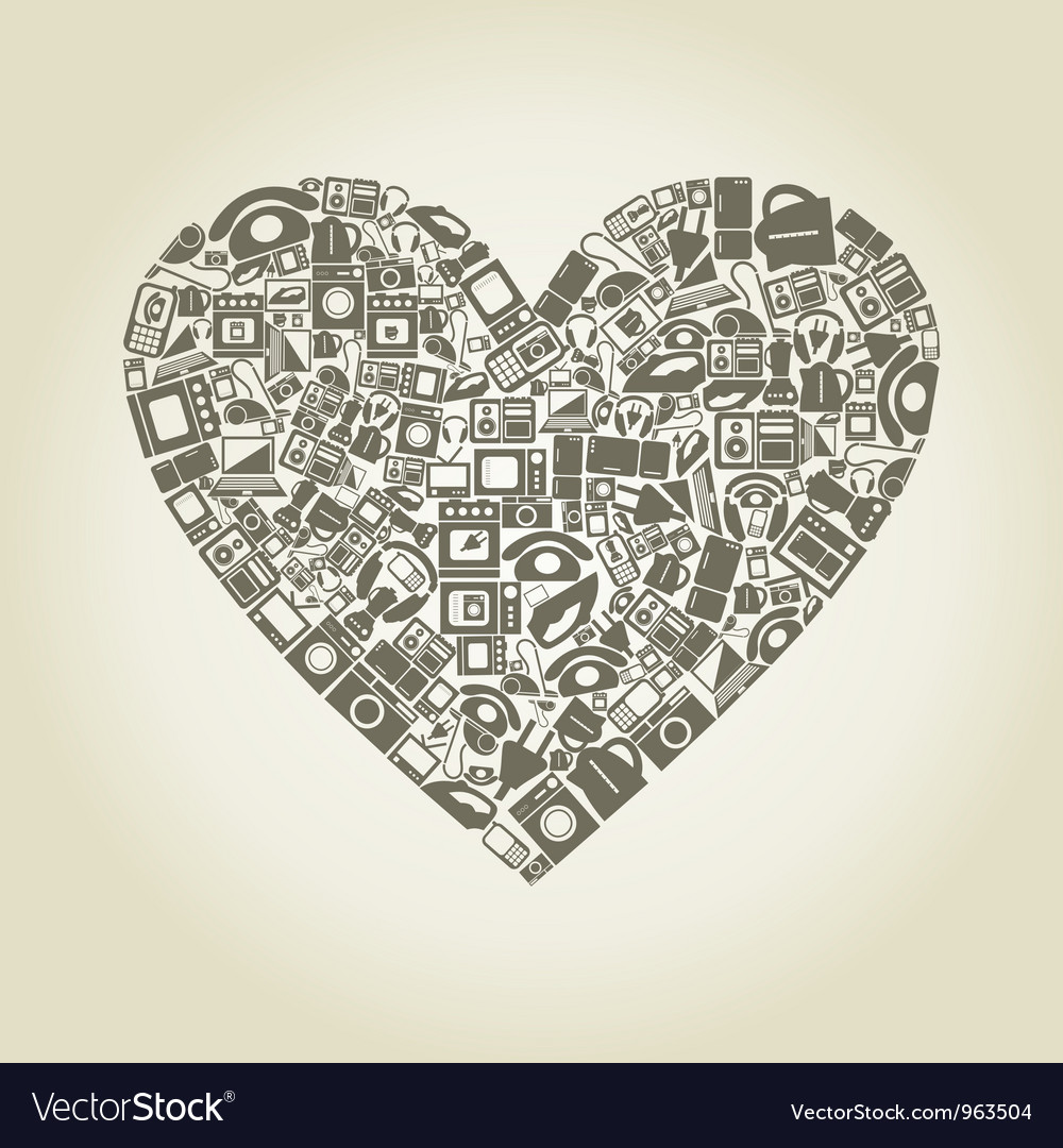 Heart electronics vector | Price: 1 Credit (USD $1)