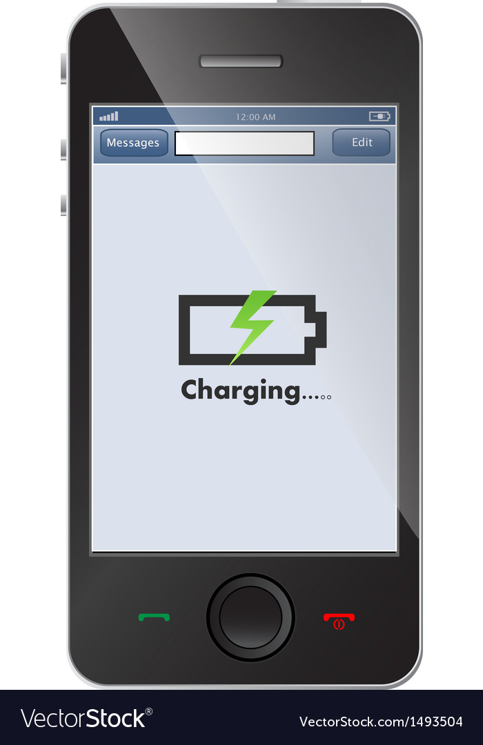 Phone charging vector | Price: 1 Credit (USD $1)