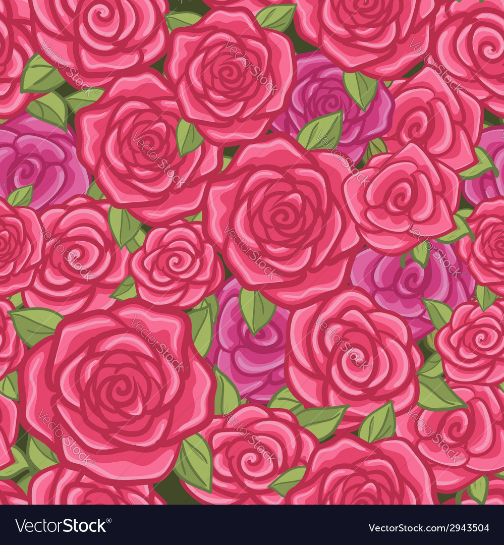 Seamless background with roses vector | Price: 1 Credit (USD $1)